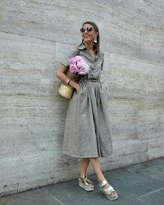 Vestido midi com saia rodada  @ootdmagazine