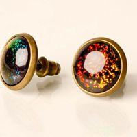 Holographic Glitter Glass Earrings $12