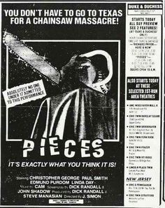 Pieces Tom Savini, Classic Horror Movies, Horror Movie Posters, Title Card, Tv Ads, Vintage Horror, Graphic Design Posters, Weird Facts, Movie Tv