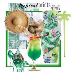 """""""Tropical prints"""" by villadybendal ❤ liked on Polyvore featuring Dolce&Gabbana and Sunnylife"""