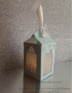 Stampin' Up Holiday Home Lantern-full instructions in the blog post.