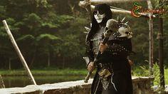 Necromancer LARP costume - Calimacil LARP weapon : Arn, the Martyr's Skull