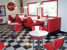 50s style diners and cafes
