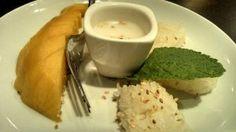 Khao niaw mamuang (riz gluant tiède à la crème de coco et sa mangue)  / Thaï X-press - Paris 15    #thaï (avis restau complet sur le blog)