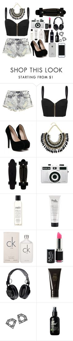 """Black and white"" by ambervanesx ❤ liked on Polyvore featuring Forever 21, sass & bide, Holga, philosophy, Calvin Klein, Proenza Schouler, Oribe, Myia Bonner and Kate Spade Saturday"