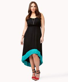 Colorblocked High-Low Dress | FOREVER 21 - 2040902931