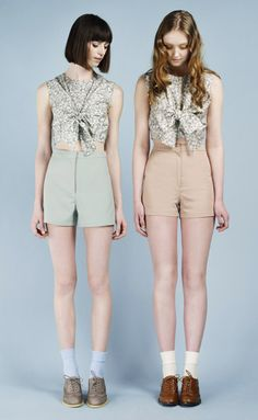 New Nadinoo-collection! Love shorts, cropped shirts and white socks
