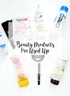 Empties: Beauty Products I've Used Up Recently | Temporary:Secretary | UK Fashion & Beauty Blogger