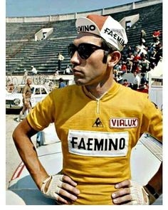 The Tour de France starts tomorrow with the first 2 stages raced in Belgium to honour 50 years since Eddie Merckx first victory and his… Cycling Art, Cycling Jerseys, Cycle To Work, Bike Poster, Vintage Cycles, Cargo Bike, Classic Bikes, Racing, Mens Tops