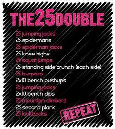 25 double weekend challenge