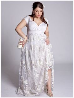 Plus Size Eugenia Vintage Wedding Gown image--how beautiful. i love the  sleeves on it. b76fc83f8a44