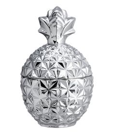 Glass Pineapple Jar | Silver-colored | Home | H&M US