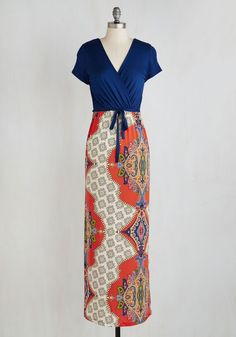 An Eye For A Lanai Dress. Youve got your heart set on a day of reading on the veranda, swathed in the sunshine and this twofer maxi dress! #multi #modcloth
