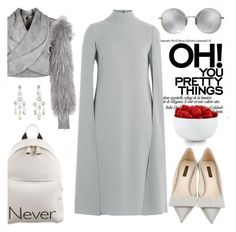 """""""Never say never"""" by pensivepeacock ❤ liked on Polyvore featuring Louis Vuitton, Balmain, Anya Hindmarch, Linda Farrow, H.Stern, Valentino and The Cellar"""