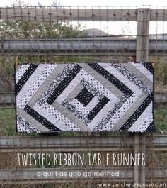 twisted ribbon table runner tutorial-- super cute and simple to sew.  Great for strips!