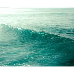 Blue Ocean Waves Print, Turquoise Wall Art- Nautical Beach House... ($28) ❤ liked on Polyvore featuring backgrounds, pictures, art sets, icon stuff, photos, saying, quotes, phrase, filler and text