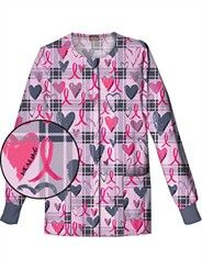 Dickies Everday Scrubs Pink Plaid Warm-Up Jacket  Style #  84300PAP $20.99 http://www.medicalscrubsmall.com/print-scrubs/pink-ribbon-print-scrubs/dickies-84300c-papd-scrub-jacket.asp