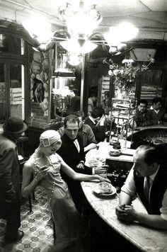 """mimbeau:  """"Au Chien qui fume"""" Paris 1957 Frank Horvat"""