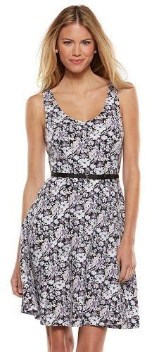 Fit and flare styling delivers a lovely look that flattering to your figure. LC Lauren Conrad at Kohl's.