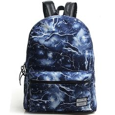 Lightning Printing Canvas Backpack
