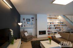 Moderní obývací pokoje inspirace - Rodinný dům 123, Praha 4 - Favi.cz