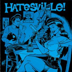 "Coop poster art: ""Hatesville"" 1995"