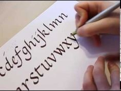 DIY Beginners Calligraphy tutorial Basic Strokes - JK Arts 017 - YouTube