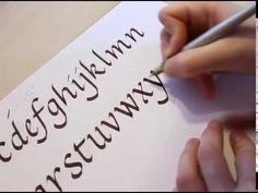 DIY Beginners Calligraphy tutorial Basic Strokes - JK Arts 017 - YouTube