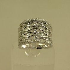 Ladies 14K white gold diamond fashion ring REGO