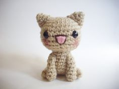 amigurumi Tan Cat by possumsloveart