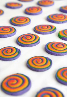 Pin for Later: A '90s-Inspired Lisa Frank Party You Can Bring to Life Rainbow Spiral Cookies Get the recipe: rainbow spiral cookies