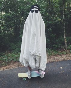 """casualaffaire: """" Skateboarding ghost is back for the summer """""""