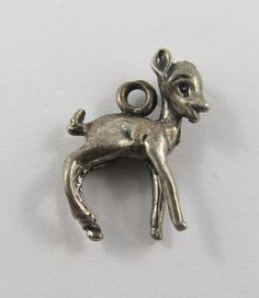 Doe Sterling Silver Vintage Charm For Bracelet by SilverHillz