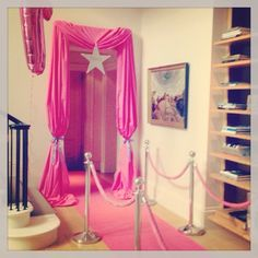 Disco party, that is so cute! Maybe with a pink carpet backdrop for paparazi out front!