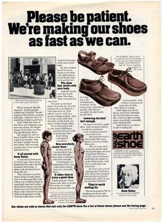 Earth Shoes (1970s) - Read & Discuss:  http://www.retroplanet.com/blog/retro-memories/remember-when/earth-shoes/