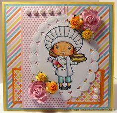 Charmed Stamping: La-La-Land Crafts Chef Marci handmade card