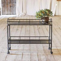 Creative Co-Op is a home, seasonal decor & fashion accessories wholesaler. We offer x x Metal Cart on Casters, Black & more. Check out our website today! Black Bar Cart, Kitchen Carts On Wheels, Metal Cart, Vintage Bar Carts, Serving Cart, Creative Co Op, Industrial Table, Dot And Bo, Inspired Homes