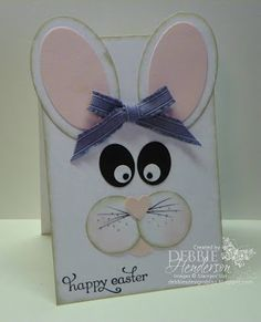Easter Bunny, inspiration was from a towel  I saw in a catalog! Stampin' Up! supplies by Debbie Henderson, Debbie's Designs.
