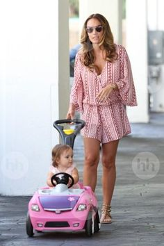 Tamara Ecclestone wearing Valentino Rockstud Textured-Leather Sandals