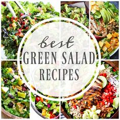 This post may contain affiliate links. See my Full Disclosure for further details. BEST GREEN SALAD RECIPES FROM LETTUCE TO SPINACH AND BROCCOLI TO AVOCADO WE HAVE ENOUGH SALAD RECIPES TO KEEP YOU EATING GREEN ALL YEAR LONG. I love salads – like obsessed. I could eat them all year long. My favorite salad is …