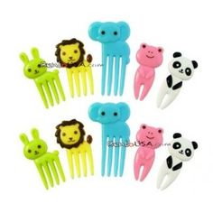 Japanese Bento Accessory Cute Food Pick Animal 10 pcs for Bento Box - $1.50 - Purchased.