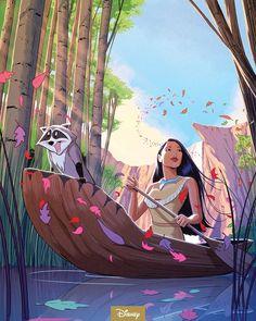 Cartoon Wallpaper, Disney Wallpaper, Images Disney, Disney Pictures, Pocahontas Pictures, Disney Concept Art, Disney Fan Art, Disney Artwork, Disney Drawings
