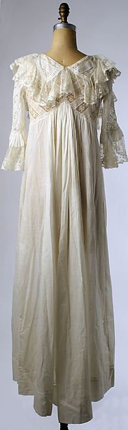 Wedding lingerie (image 2 - back) | American | 1901 | cotton, silk | Metropolitan Museum of Art | Accession Number: C.I.51.107a–c