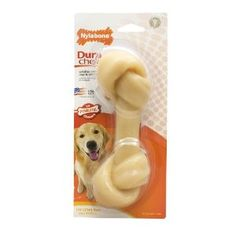 Nylabone Dura Chew Large Original Flavored Knot Bone Dog Chew Toy -- Check this awesome product by going to the link at the image. (This is an affiliate link) Soft Dog Treats, Dog Chew Bones, Interactive Dog Toys, Dog Food Storage, Dog Shower, Dog Diapers, Dry Dog Food, Dog Feeding, Small Dog Breeds