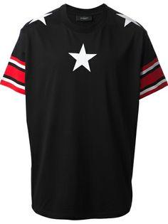 GIVENCHY - blak printed t-shirt  #givenchy #Givenchy #tshirts #star #black #men #jofré