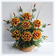 hand beaded marigold... amazing!
