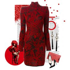 Red by detroitfashionista on Polyvore featuring Balmain, Pierre Balmain, Gucci, Anja, women's clothing, women's fashion, women, female, woman and misses