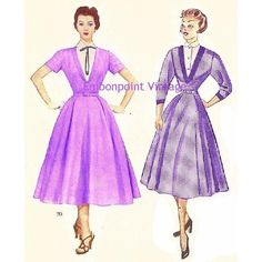 New to EmbonpointVintage on Etsy: Plus Size (or any size) Vintage 1949 Dress Sewing Pattern - PDF - Pattern No 20 21 Cora (11.73 AUD)