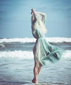 Model Elena Potapova washes ashore on Rockaway Beach as a mermaid in lovely images lensed by Danny Christensen for latest issue of Haute Living.