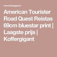 American Tourister Road Quest Reistas 69cm bluestar print | Laagste prijs | Koffergigant